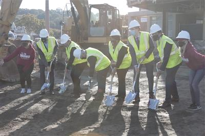 Main Line Health and Wawa leadership break ground
