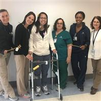 Alexandria Warner with therapy team