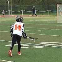 Hagan McTear on the lacrosse field