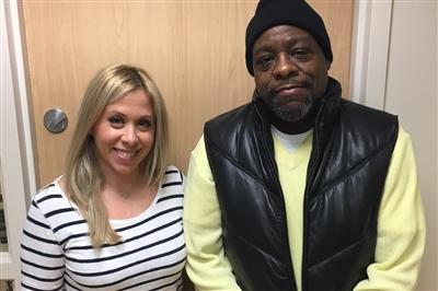 Pre-transplant coordinator Kristina with Norman Brown