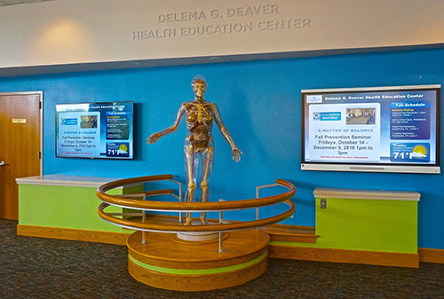 The interactive screens and Pandora in the Lankenau Health Education Center