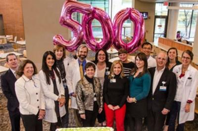 Kidney transplant team celebrated the 500th transplant