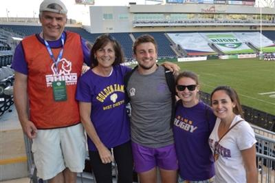 Joan Diorio with her family at Talen Energy Stadium