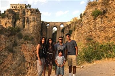 Umber with her family in Ronda, Spain