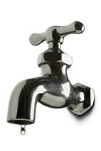leaking water faucet